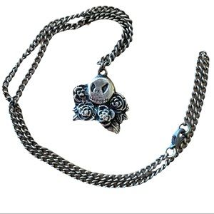 RARE Nightmare Before Christmas Jack Rose Necklace